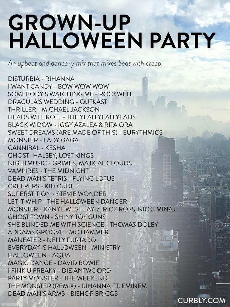 Halloween Party Music List